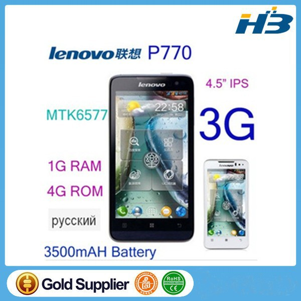 In stock original Lenovo P770 cell phone 4.5 inch IPS MTK6577 android 4.1 4GB ROM 1GB RAM 3500mAH Russia P780 S939 S960