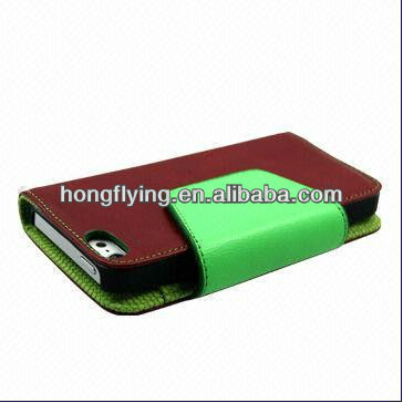 Leather Case for iPhone 5, with Notebook Style, Very popular