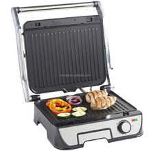 2000W electric stainless Steel 4 Slice Panini Sandwich Press & Grill/ Griddle with Detachable Plates