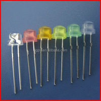 China Manufacturer 4.8mm/5mm Straw Hat LED Light Emitting Diodes Various Colors ( CE & RoHS )