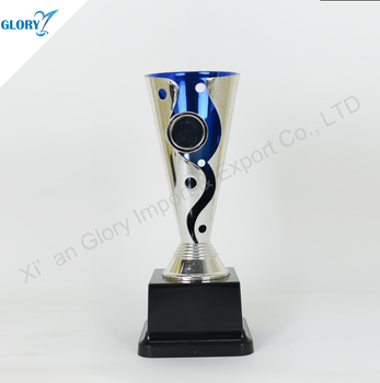 Sliver Blue Cheap New Design Plastic Trophy Cup