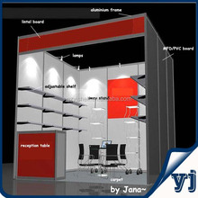 8 Way Upright Exhibition Booth/Standard Aluminum fair booth stand with Adjustable Shelf and Counter