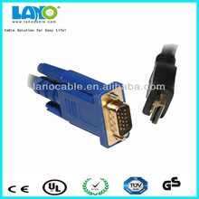 1m black with one year warranty hdmi 1.4 to vga converter cable