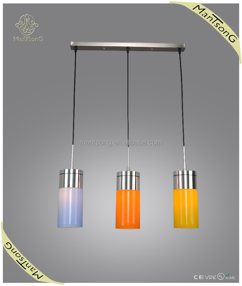 Modern colorful indoor lighting pendant ,colorful glass shade dining lamp