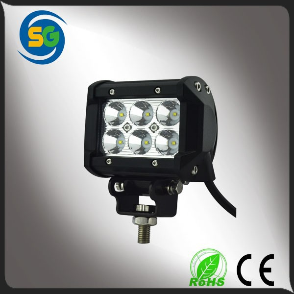 "4"" dual row high power 18w led light bar, 12V 4x4 auto led work light"