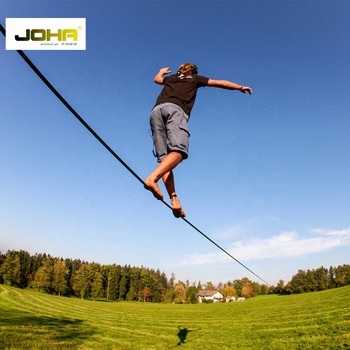 Outdoor Sports Polyester Webbing   Slackline With Ratchet and Loops for balance game