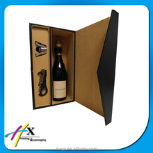 china custom luxury high end hard paperboard wine wine box drinks box pu leather cover case for gift