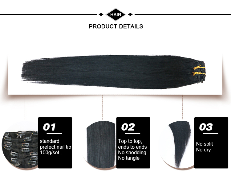 Fusão cabelo humano direto brasileiro 10 cores pode personalizar grampo em extensões do cabelo humano