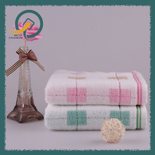 Colorful Square Towel 34*75cm 100% Cotton 2 Layers Lattice Soft For Adults Bathing Face Washing
