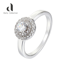 Fashion personalized wholesale 925 sterling silver round diamond ring for women
