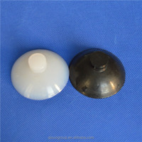Silicone glass table top suction cups