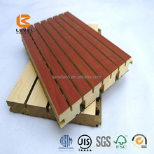 Wooden Grooved Architectural Interior Soundproof Veneer Finish MDF Timber Wall Panel Cladding For Meeting Room