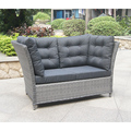 Great Durability Factory Directly 2 Rattan Sofa Set Outdoor, 2 Seater Sofa Bench