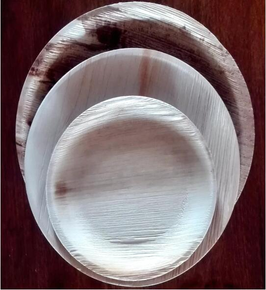 IHCH Disposable Eco-friendly round Palm Leaf Plates