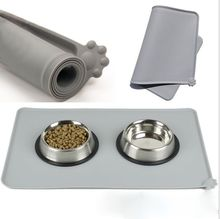 High quality silicone pet placemat waterproof dog food mat