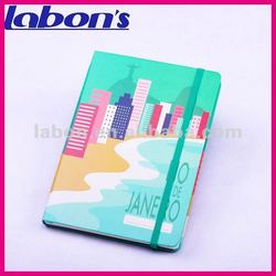 cute notebook with elastic band and pocket