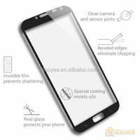 3D covered full clear transparency s7 edge tempered glass screen protector