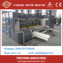 KSY 4 semi-automatic two colors printer and slotter machinery