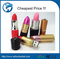Lipstick Case Shape Crystal 8GB USB 2.0 Flash Memory Stick Pen Drive U Disk red