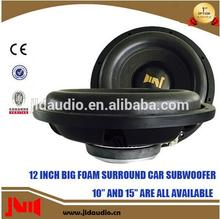 2016 new products 12inch 88db subwoofer with RMS 300w slim car subwoofer for sale from JLD Audo subwoofer