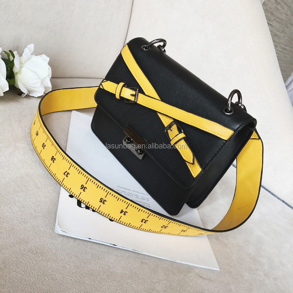 Scale Rope Wide Nyon Strap Girls Stylish New Design Leather Shoulder Bags