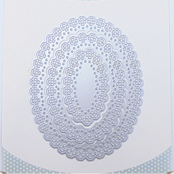 Round Shape Heart Pattern Cutting Dies Metal Stencil