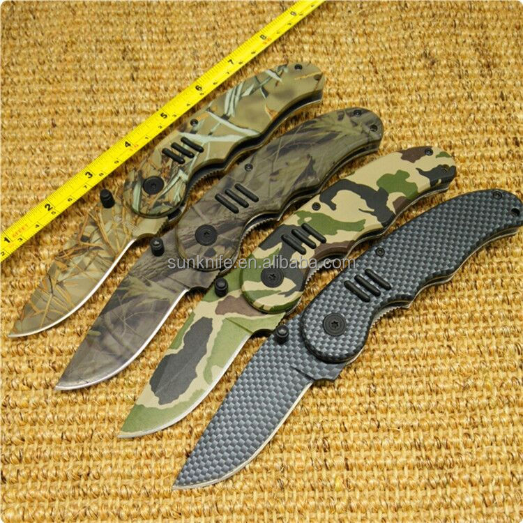 2017 new arrival camouflage coated folding <strong>knife</strong>