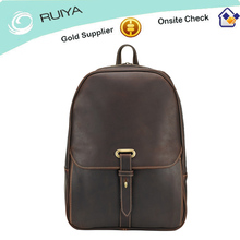 Calfskin leather Rucksack, Leather Business Backpack, Leather Laptop Backpack for Men or Women-HB-154