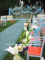 organza carpet and chair sash for wedding decoration