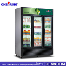 Portable refrigerated beverage display cooler for supermaket