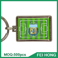 China Supplier souvenir promotion gift digital printing soccer keychain