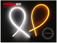 600mm 850mm Dual Color White Orange PVC Flexible Led Strip Turning Flexible Led DRL/Daytime Running Light Bars For Truck