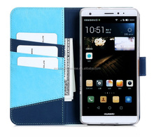 Leather Wallet Phone Case Custom Flip Mobile Phone Case For Huawei Mate 4