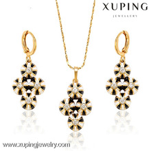 62882 Hot sales popular christmas gift 18k gold color cz jewelry