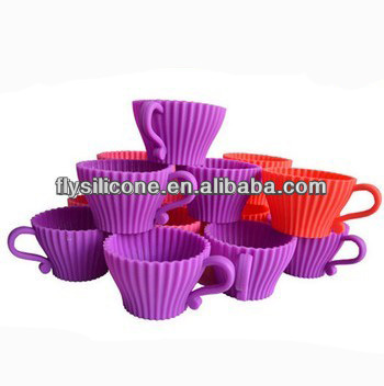 2014 FDA & LFGB Hot Selling 100% food gradesilicone cake mould made in China