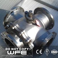 API6D WFE Flanged Carbon Steel Four Way high platform ball valve