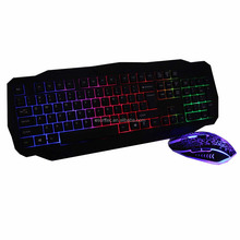 Stock Mix color backlit gaming keyboard and mouse combo,KMC-316G