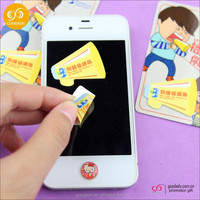 Microfiber Mini Sticky cell phone screen cleaner/cell phone cleaning sticker