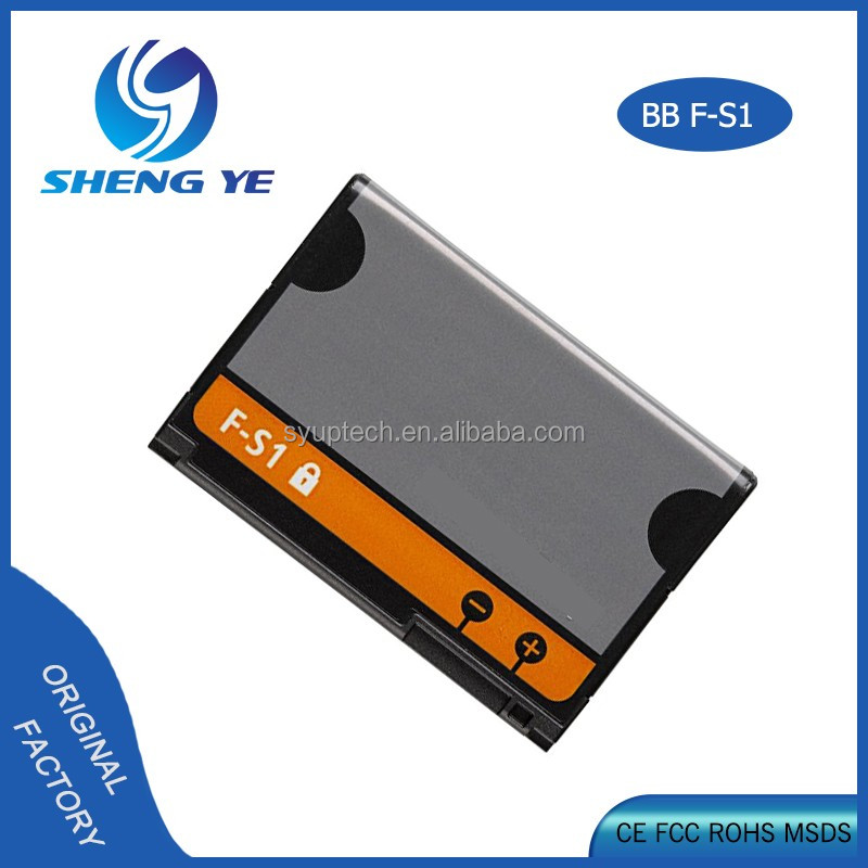 top grade mobile phone rechargeable battery F-S1 for Blackberry smart phone