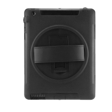 360 Degree Rotatable Kickstand With Leather Hand Strap Case For iPad 2 3 4