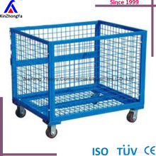 collapsible pallet box,metal pallet cage,steel pallet crate