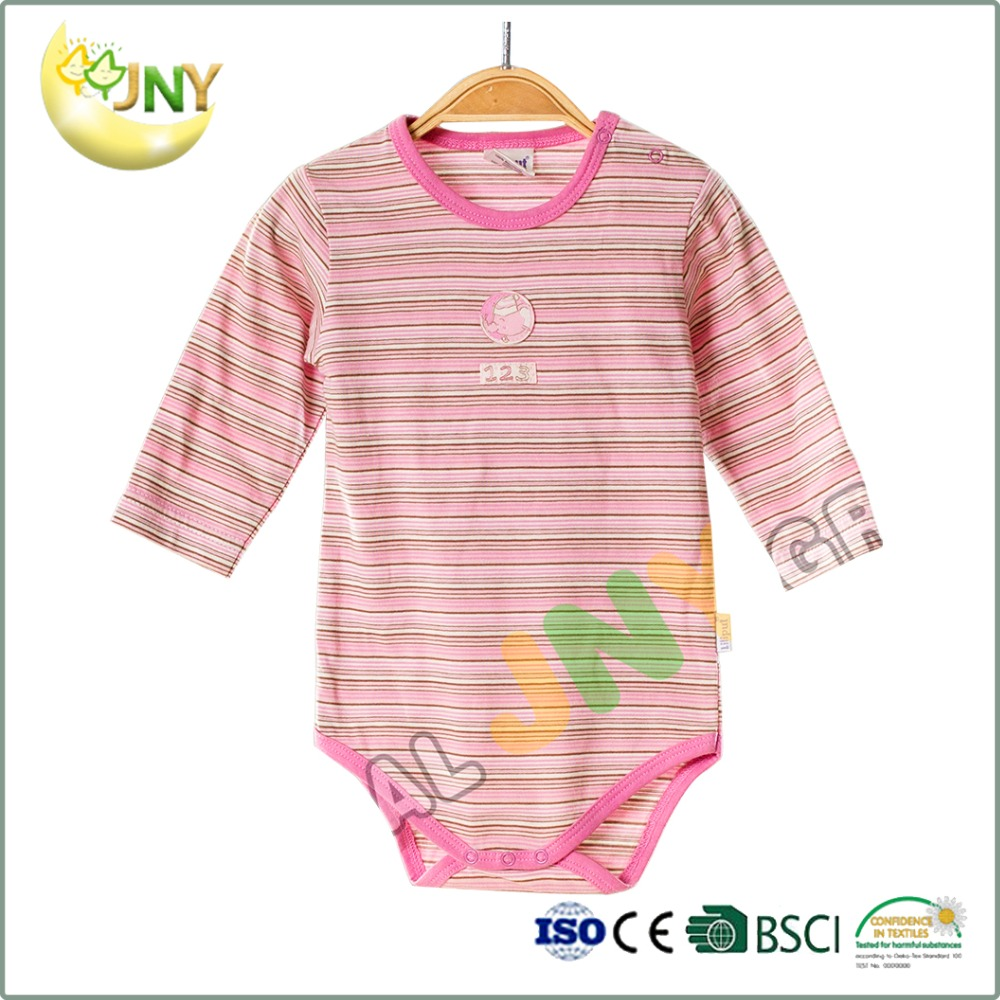 Blank baby clothes striped baby jumpsuit