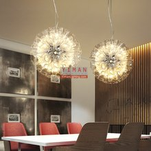 Modern Contracted Unique design Iron glass led G4 Pendant light interior decoration Pendant lamp industrial pendant light