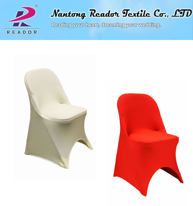 Red Folding Spandex Home Banquet Chair Cover, Universal Chair Protect