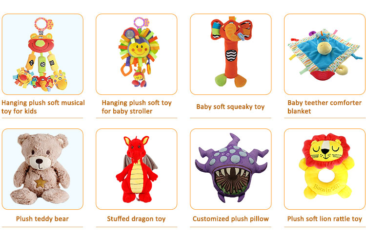 Best selling products 2018 stuffed animal plush baby crib hanging baby toy