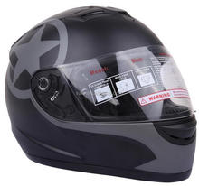 motorcycle black DOT helmet