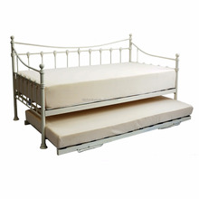 Florida Victorian Style French Day Bed Guest Bed Black Metal + Trundle Options