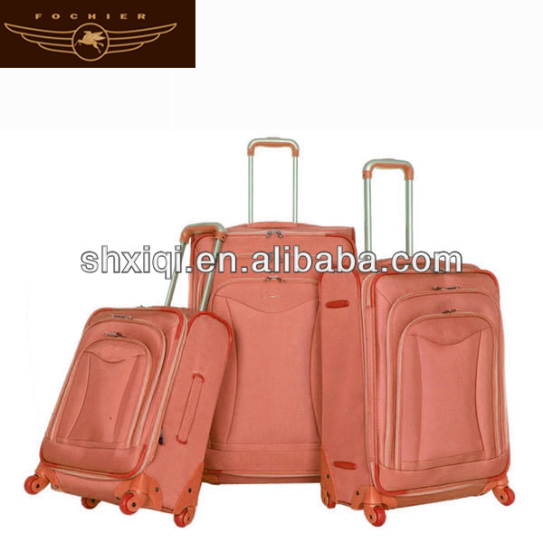2014 canvas suitcases for school pull handle durable luggage