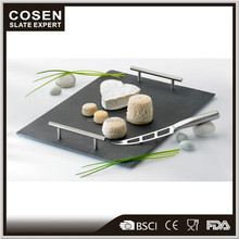 wholesale popular style luxury serving slate tray