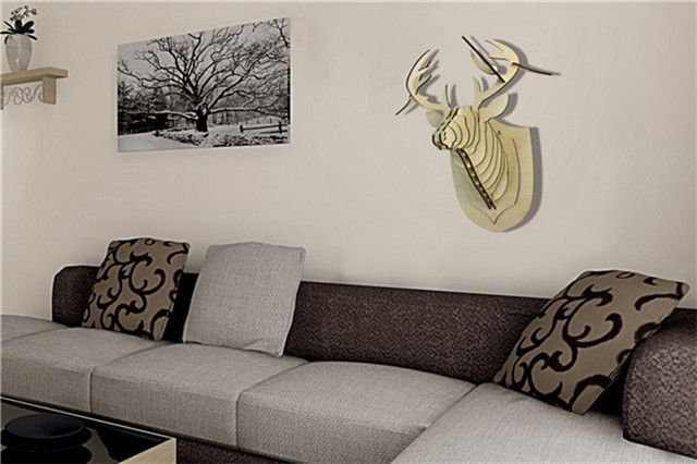 animal head wall decoration for child's bedroom
